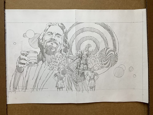 The Big Lebowski Pencil Sketch