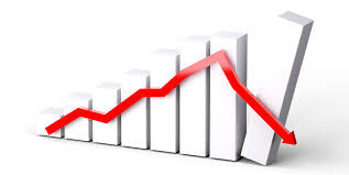 falling graph image