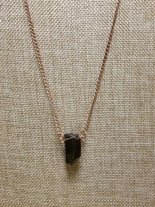 Smoky Quartz and Copper Necklace