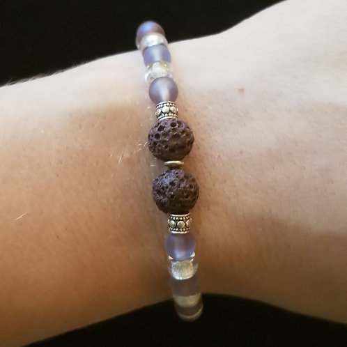 Purple Lava Stone Bracelet