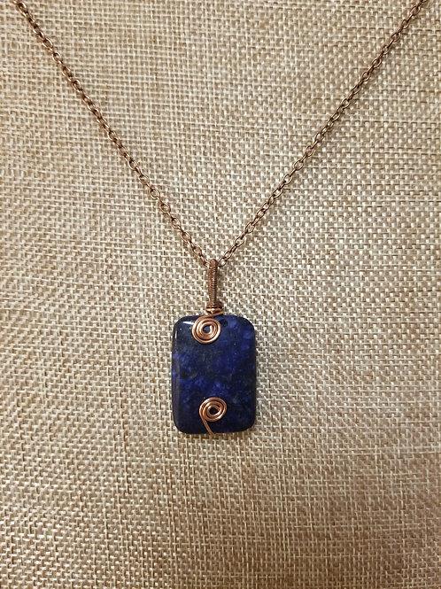 Lapis Lazuli with Copper Pendant