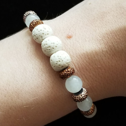 Quartzite and Lava Stone Bracelet