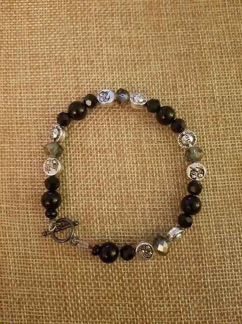 Black Jasper Celestial Bracelet