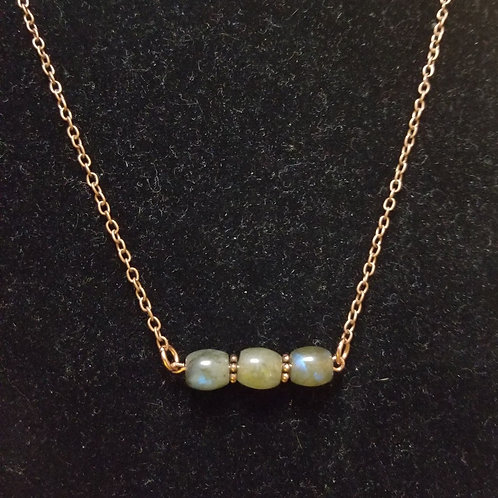 Labradorite and Copper Necklace