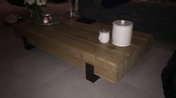 Eikenhouten salon tafel