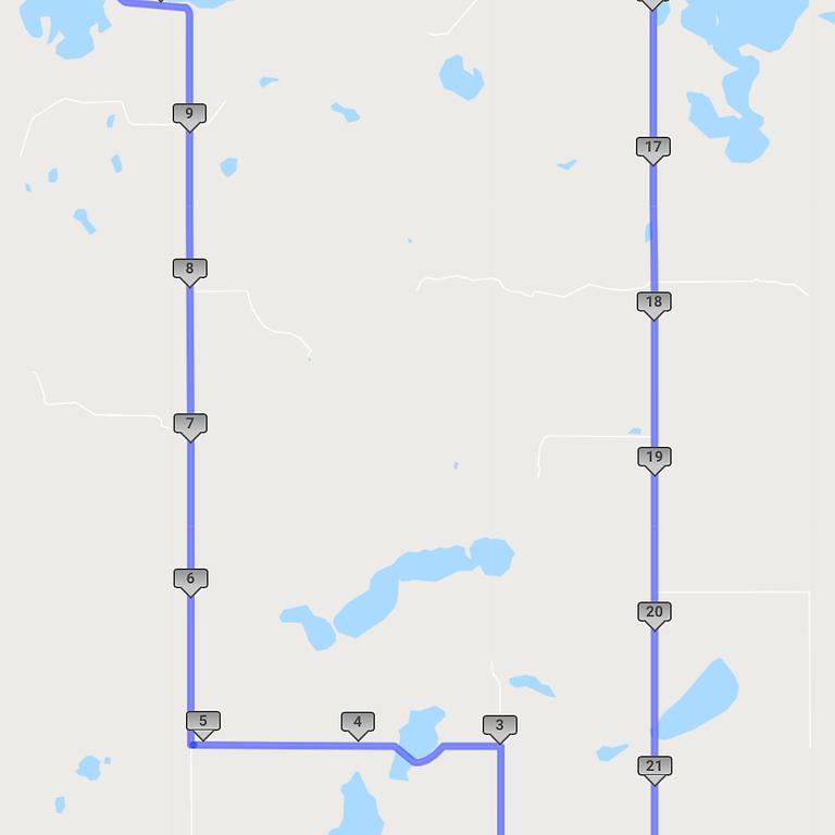 22 Mile Course