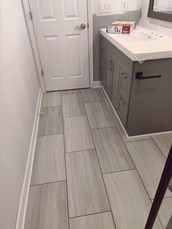 Tile work and Cabinets