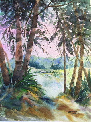 Frances Martin - Parks Foundation Volunteer and Watercolorist