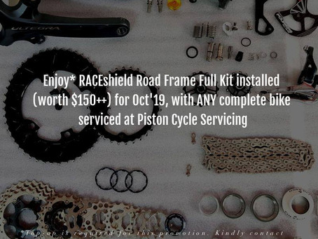 RACEshield Road Frame Full Kit as you engage complete full bike service!