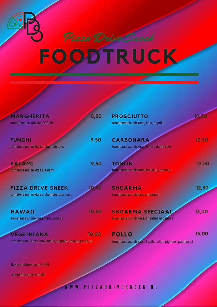 White Green and Red Lines Pizza Menu (4)