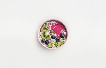 Birdseye view of an acai bowl