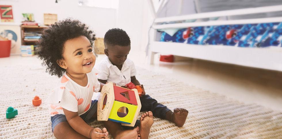 2 cute toddler and preschool kids.