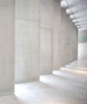Poured concrete in Dove Grey