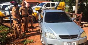 Operação PM apreende mais um veículo com cigarros contrabandeados
