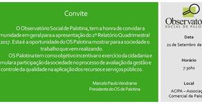 Observatório Social apresenta relatório do 2º quadrimestre
