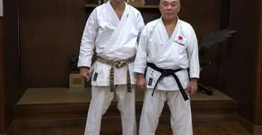 Professor palotinense foi ao Japão para treinamento e aperfeiçoamento no Karatê