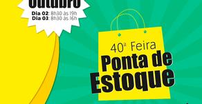 Feira Ponta de Estoque será nas lojas com promoções e novidades