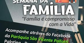 Live da Semana Nacional da Família será transmitida nesta sexta-feira