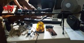 Assaltantes fortemente armados invadem residência e rendem família em Palotina