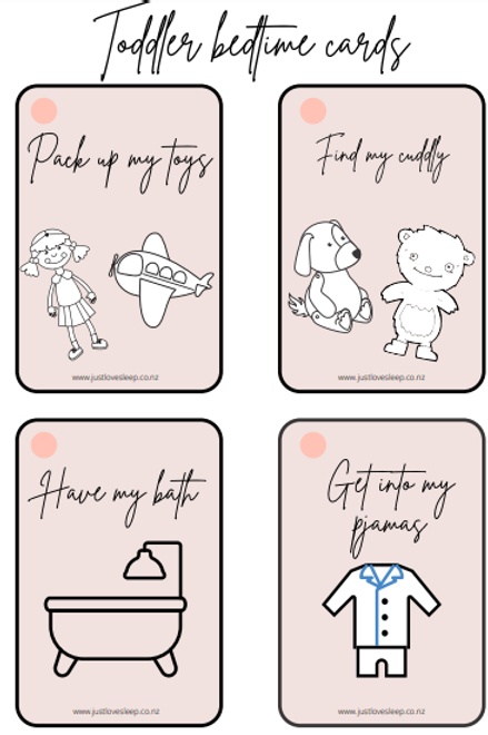 Toddler Bedtime Flashcards