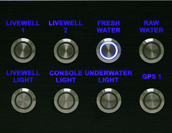 Led Ring Push Button Flush Mount Switches