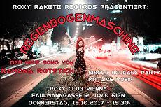 Ramona Rotstich Live mit Band, Single Release Party, Regenbogenmaschine