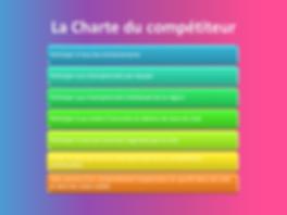 La charte du compétiteur