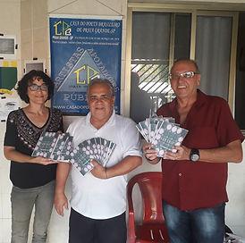 Claudia Brino e Vieira Vivo, editores do livro solo Overtrip Revelando você.