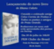 Promocional do livro O Silêncio dos Anjos.