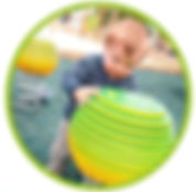 Little Boy and tactile play equipment