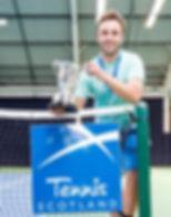 Keith Meisner holding trophy