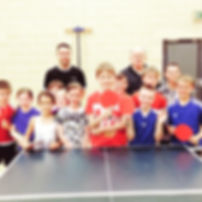 Stephen Gertsen and Moray Table Tennis club with child members