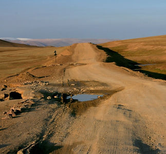 Mongolian dirt road