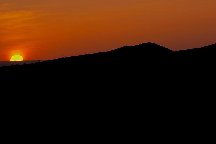 Golden gobi Sunset over the horizon