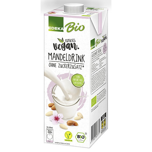 Almond Drink Without Added Sugar Edeka