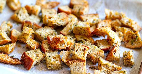 Garlic & Herb Housemade Italian Croutons