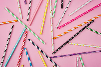 top-view-arrangement-colored-paper-straw