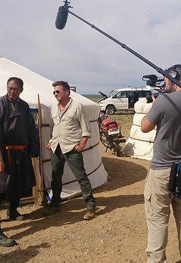Booze traveller film shoot in mongolian ger