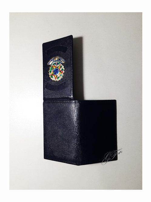 Capa em couro área externa lisa faixas personalizadas na divisória interna