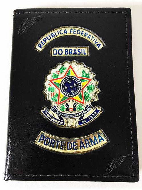 PORTE DE ARMA CAPA Porta Documento Couro