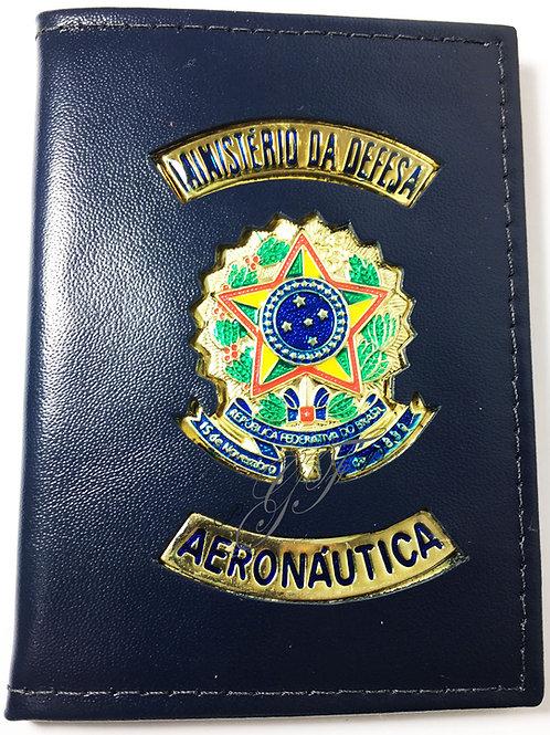 Porta funcional AÉRONÁUTICA COURO AZUL REPÚBLICA