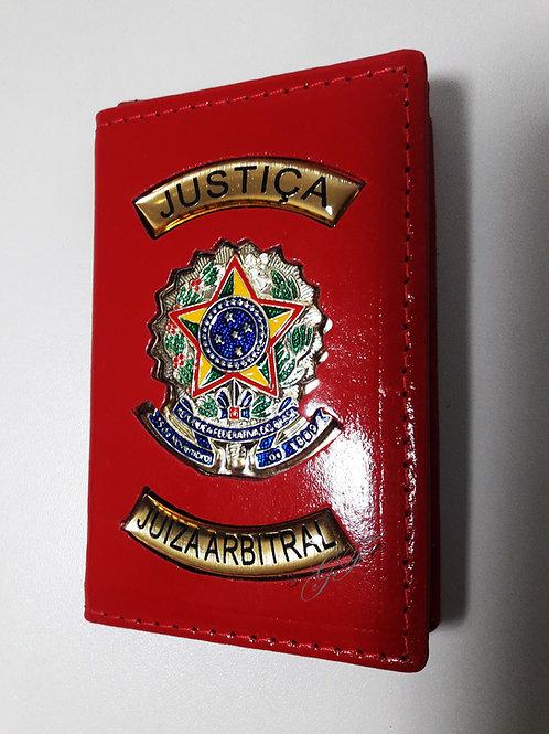 Capa JUIZA ARBITRAL JUSTIÇA COURO