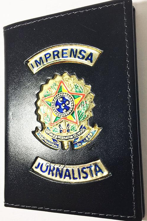 Capa IMPRENSA JORNALISTA COURO