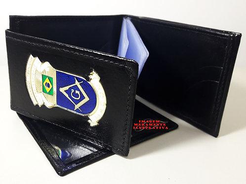 Carteira MAÇON porta notas e cartões COURO