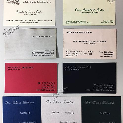 Cartões de Visita 90g COLORIDOS 100 unidades
