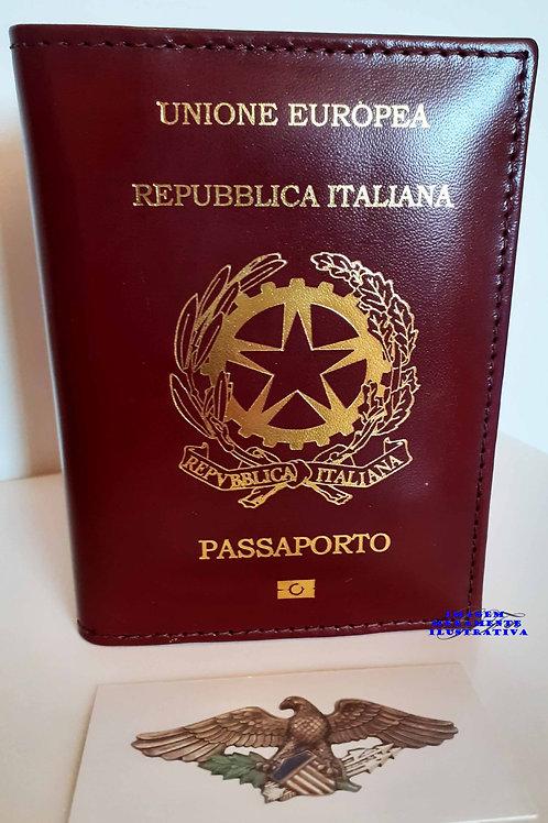 Porta Passaporte ITALIANO couro