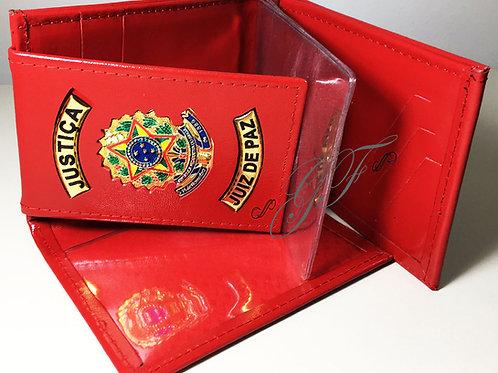 Carteira JUIZ DE PAZ porta notas, cartões...COURO