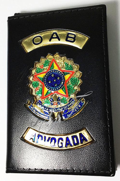 Porta OAB ADVOGADA COURO