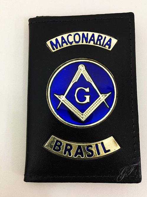 CAPA MAÇONARIA BRASIL logo azul COURO