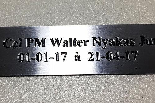 Placa de Aço Inox 10cm x 3cm até 30cm²